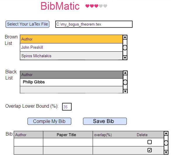 BibMatic Screenshot