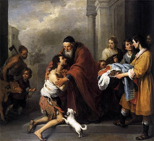 Bartolomé Esteban Murillo, Return of the Prodigal Son 1667-70, courtesy National Gallery of Art, Washington