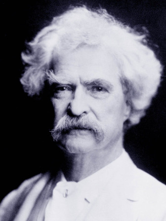 Writer Samuel Clemens (aka Mark Twain) circa 1907